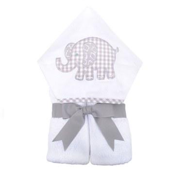 3 Marthas - Hooded Towel - Grey Elephant