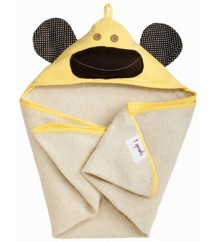 3 Sprouts - Hooded Towel - Monkey Yellow