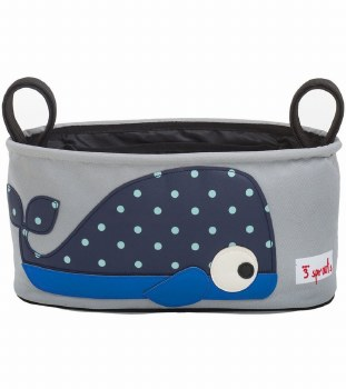 3 Sprouts - Stroller Organizer - Whale Blue