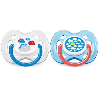Avent - Free Flow Pacifier 0-6 Clouds