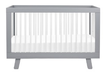 Babyletto - Hudson 3-In-1 Convertible Crib - Grey/White
