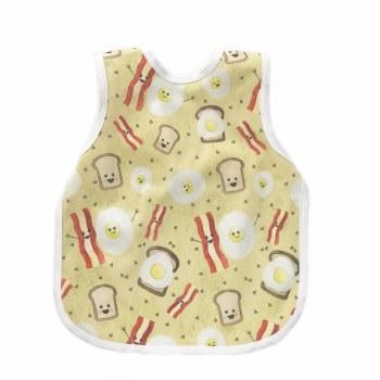 Bapronbaby - Toddler Bapron Waterproof Bib - Eggs & Bacon