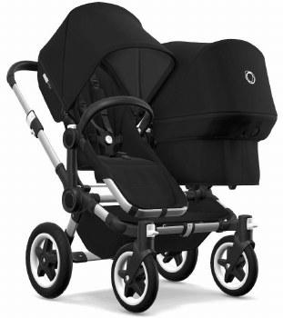 Bugaboo - Donkey2 Duo Configuration Stroller - Aluminum - Black - Black - Black