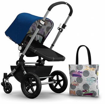 Bugaboo - Cameleon3 Special Edition Tailored Fabric Set - Royal Blue/Transport