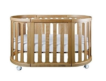 Cocoon Furniture - Nest 4-in-1 Crib and Bassinet Complete System - Natural
