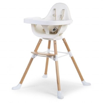 Childhome - Evolu One.80 High Chair - Natural/White