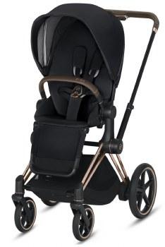 Cybex -  e-Priam Complete Stroller Rose Gold - Premium Black Seat