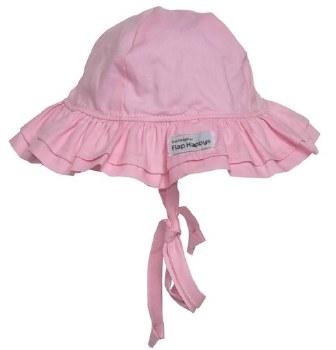 Flap Happy - UPF 50+ Double Ruffle Hat - Pink XS