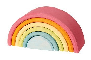 Grimm's - 6pc Pastel Rainbow