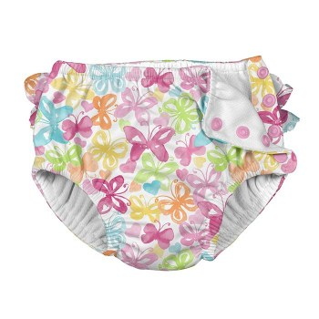 I Play -  Snap Reusable Swim Diaper - Tropical 6M