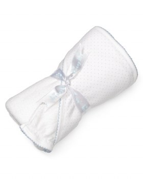 Kissy Kissy - Hooded Towel with Mitt - Dots White/Blue