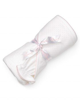 Kissy Kissy - Hooded Towel with Mitt - Dots - White/Pink