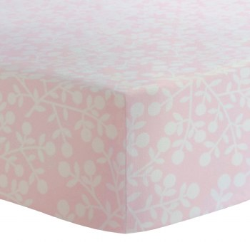 Kushies - Portable Playpen Fitted Sheet Flannel - Berries Pink