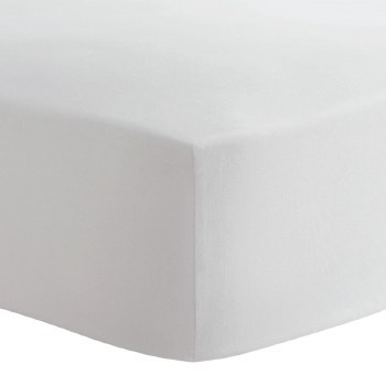 Kushies - Portable Playpen Fitted Sheet Flannel - Solid White