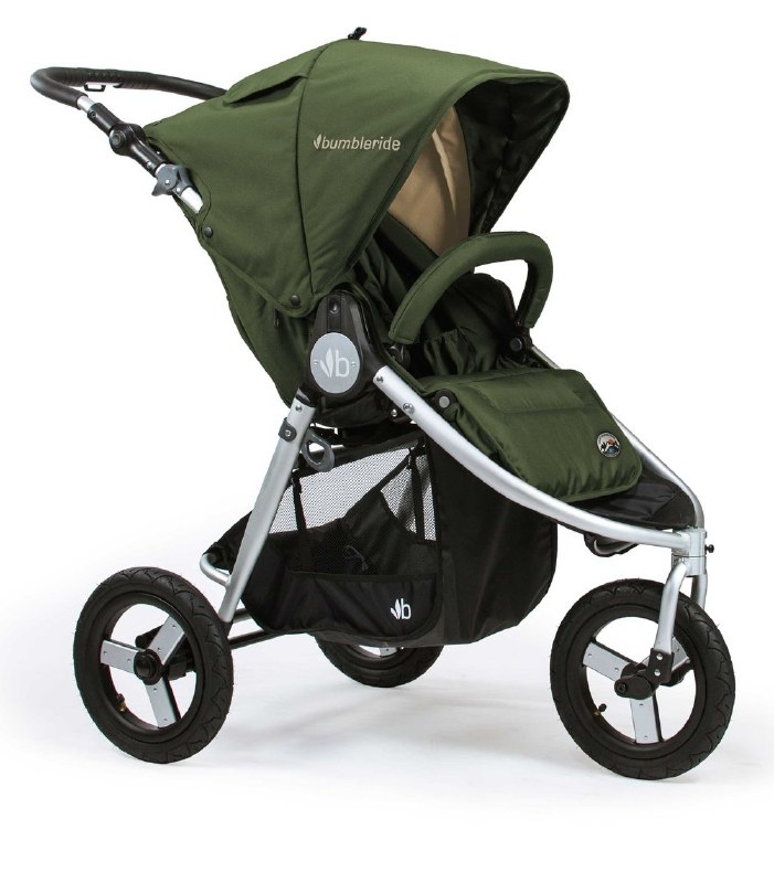 Free Shipping!! Bumbleride Indie Twin Carrycot Camp Green New