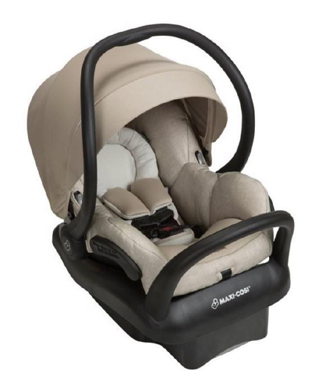 infant car seat base Cover tan and brown giraffe
