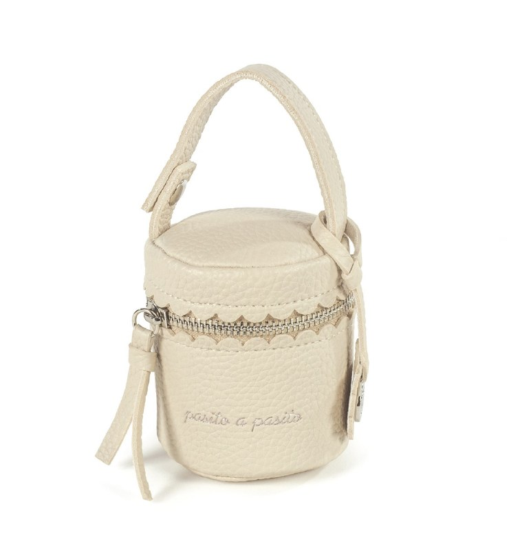 Pasito A Pacifier Holder Bag Biscuit Beige