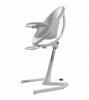 Mima - Moon 2G High Chair White - Silver