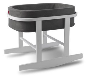 Monte Design - Bassinet Ninna Nanna - Charcoal & white