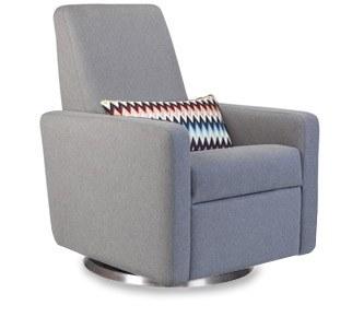 Monte Design - 1 Grano Heather Grey Body - Stainless Steel Swivel Base - Missioni Lumbar Pillow