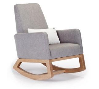 Monte Design - 1 Joya Pebble Grey Body/Maple Wood Base/White Lumbar Pillow