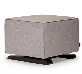 Monte Design - Luca Ottoman - Pebble Grey Body/Heather Grey Pipping