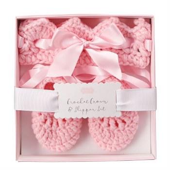 N L - Crochet Hdband & Slipp Set