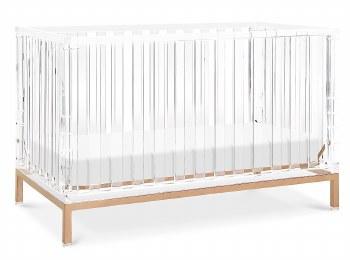 Nursery Works - Luma Crib - Acrylic/Rose Gold