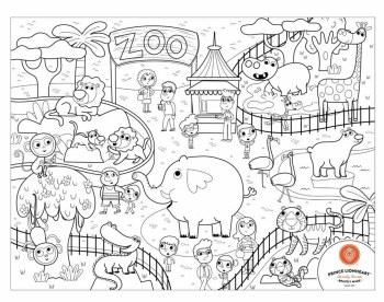 Prince Lionheart -  Color+Draw Placemat Zoo