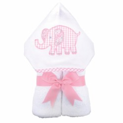 3 Marthas - Hooded Towel - Pink Elephant