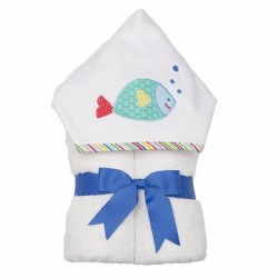 3 Marthas - Hooded Towel - Fish Blue