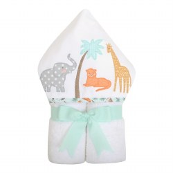 3 Marthas - Hooded Towel -  Safari