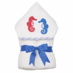 3 Marthas - Hooded Towel - Seahorse