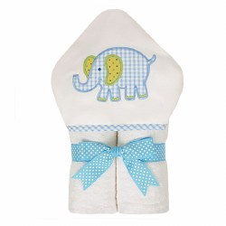 3 Marthas - Hooded Towel - Blue Elephant