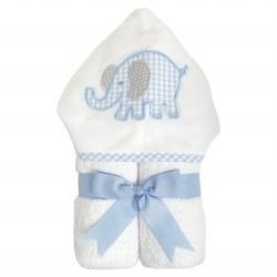 3 Marthas - Hooded Towel - Blue Elephant