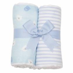 3 Marthas - Burp Pad 2-Pack Set - Blue Bear