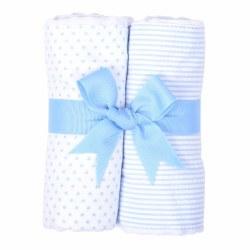 3 Marthas - Burp Pad 2-Pack Set - Blue Bunny