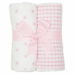 3 Marthas - Burp Pad 2-Pack Set - Pink Bow