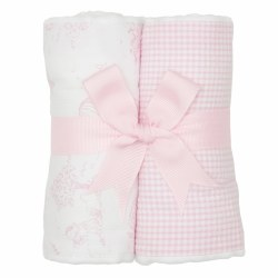 3 Marthas - Burp Pad 2-Pack Set - Pink Kite