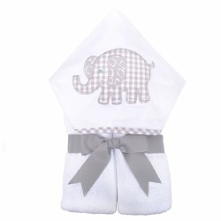 3 Marthas - Hooded Towel - Grey Elephant