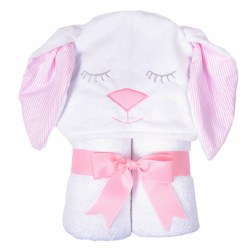 3 Marthas - Hooded Towel - Pink Bunny