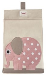 3 Sprouts - Diaper Stacker - Pink Elephant
