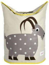 3 Sprouts - Laundry Hamper - Goat Grey