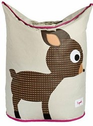 3 Sprouts - Laundry Hamper - Deer Brown