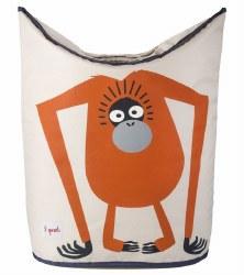 3 Sprouts - Laundry Hamper - Orangutan Orange