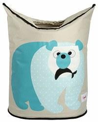 3 Sprouts - Laundry Hamper - Polar Bear Blue