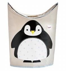 3 Sprouts - Laundry Hamper - Penguin Black