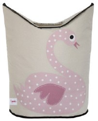 3 Sprouts - Laundry Hamper - Swan Pink