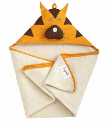 3 Sprouts - Hooded Towel - Tiger Orange