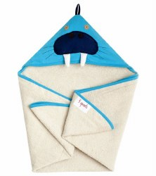 3 Sprouts - Hooded Towel - Walrus Blue